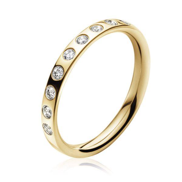 Mestergull Magic Ring i 18 K Gult Gull og diamanter GEORG JENSEN Magic Ring