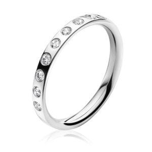 Mestergull Magic Ring i 18 K Hvitt Gull og diamanter GEORG JENSEN Magic Ring