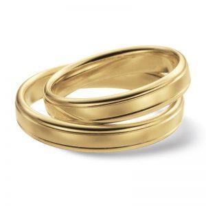 Mestergull Ringene nedenfor er i profil 4 i blankpolert overflate og diamantskåret mønster. Prisen under er pr. ring. LYKKERINGENE Eksempel Ring