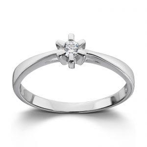 Mestergull Tidløs ring i rhodinert sølv med hvit cubic zirkonia GID Ring