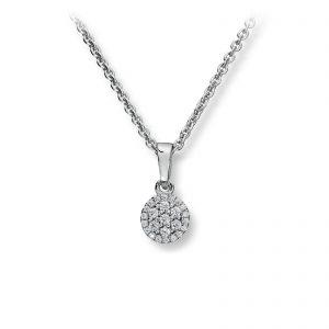 Mestergull Stilrent anheng i rhodinert sølv med hvite cubic zirkonia GID Anheng
