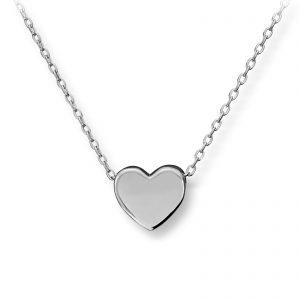 Mestergull Fint hjerteanheng i rhodinert sølv GID Anheng