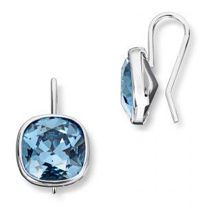 Mestergull Lekker ørepynt i rhodinert sølv med blå krystaller GID Ørepynt