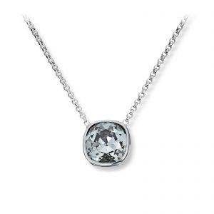 Mestergull Lekkert anheng i rhodinert sølv med grå krystall GID Anheng