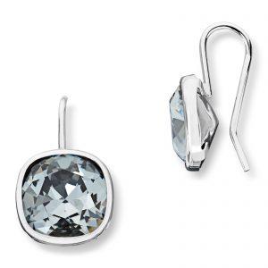 Mestergull Lekker ørepynt i rhodinert sølv med grå krystaller GID Ørepynt