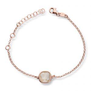 Mestergull Lekkert armbånd i rosèforgylt sølv med krem krystaller GID Armbånd