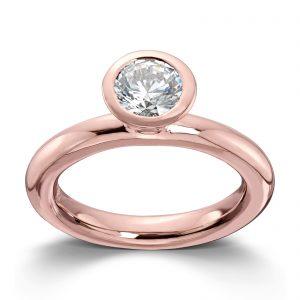 Mestergull Roseforgylt sølv ring med hvit cubic zirkonia. Denne er fin i kombinasjon med flere ringer fra GID Stackable. GID Stackable Ring