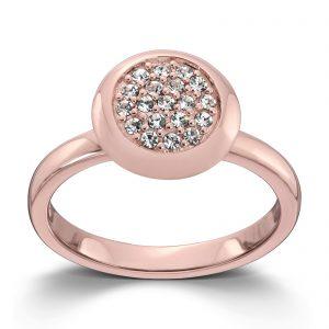 Mestergull Roseforgylt sølv ring med hvite cubic zirkonia. Denne er fin i kombinasjon med flere ringer fra GID Stackable. GID Stackable Ring