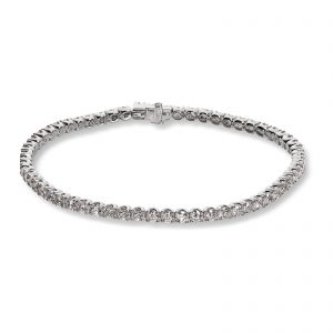 Mestergull Tennisarmbånd i hvitt gull med 62 diamanter à 0,06 ct. MG DIAMONDS Armbånd