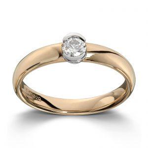 Mestergull Tøff ring i tofarget gull med diamant 0,25 ct. HSI MG DIAMONDS Ring