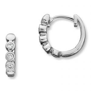 Mestergull Klassike øreringer i hvitt gull med diamanter MG DIAMONDS Ørepynt