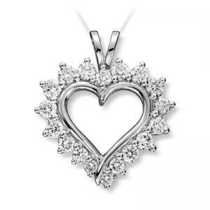 Mestergull Vakkert diamanthjerte i gult gull, Mestergull-hjertet er et av våre signatursmykke MG DIAMONDS Anheng