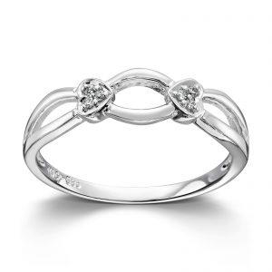 Mestergull Enkel ring i hvitt gull med diamanter MG DIAMONDS Ring