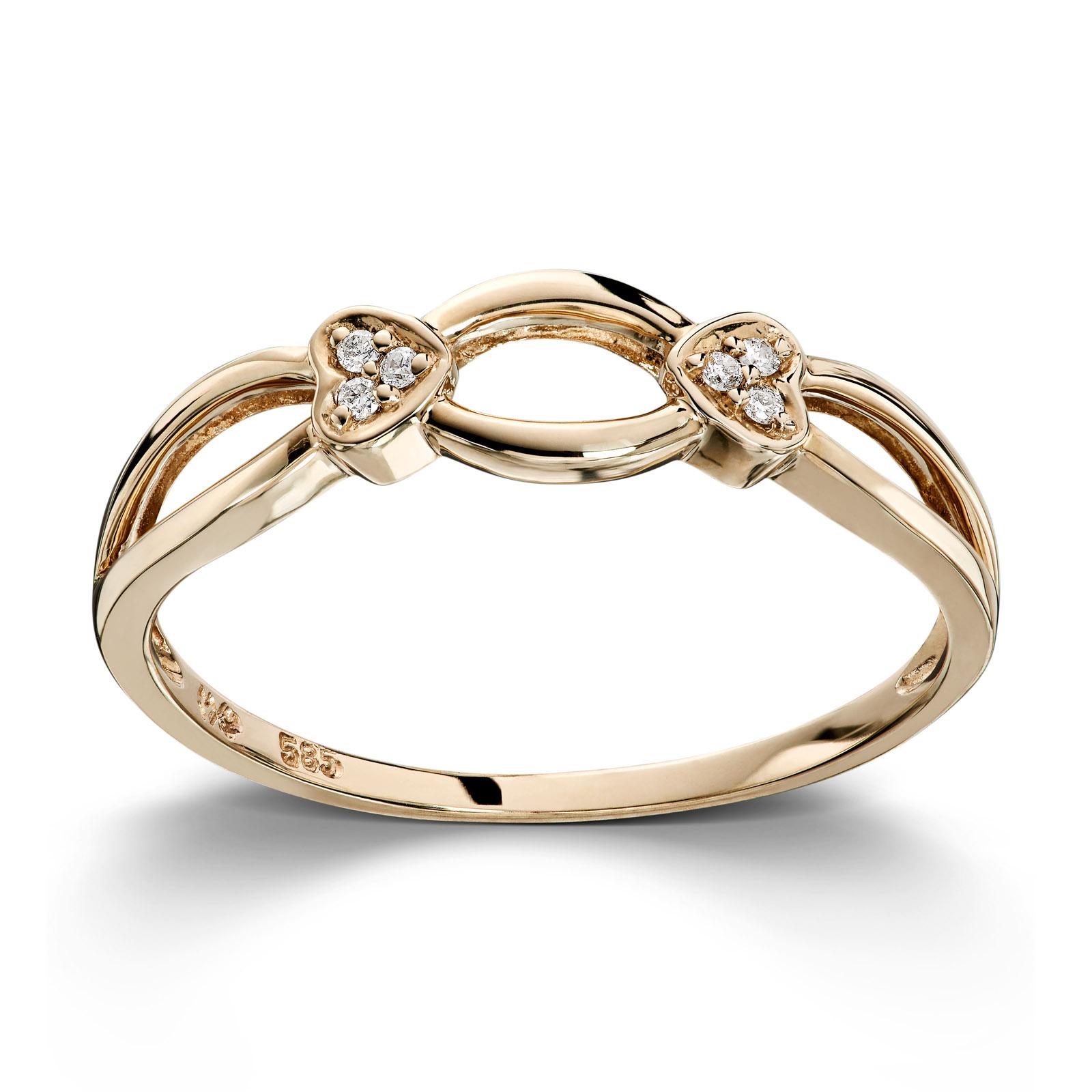 Mestergull Enkel ring i gult gull med diamanter MG DIAMONDS Ring