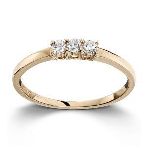 Mestergull Stilren ring i gult gull med diamanter MG DIAMONDS Ring