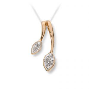 Mestergull Lekkert anheng i gult gull med diamanter MG DIAMONDS Anheng