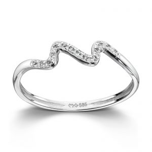 Mestergull Lekker ring i hvitt gull med diamanter MG DIAMONDS Ring