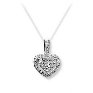 Mestergull Nydelig anheng i hvitt gull med diamanter MG DIAMONDS Anheng