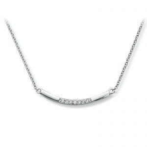 Mestergull Stilrent collier i hvitt gull med diamanter MG DIAMONDS Kjede