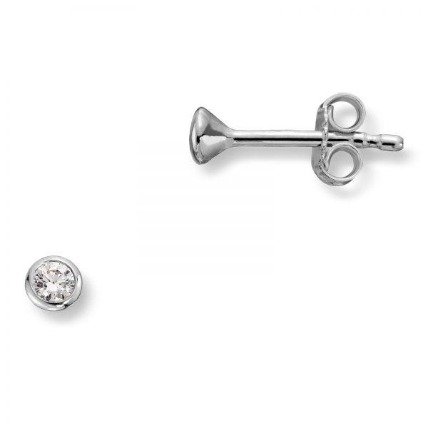 Mestergull Enkel ørepynt i sølv med cubic zirkonia MG BASIC Ørepynt
