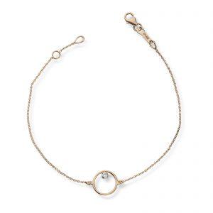 Mestergull Flott armbånd sirkel i gull med diamant MESTERGULL Armbånd
