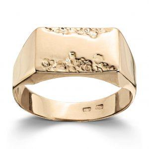 Mestergull Tøff herre ring i gult gull MESTERGULL Ring