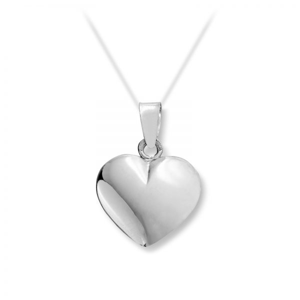 Mestergull Flott hjerteanheng i hvitt gull for gravering MG BASIC Anheng