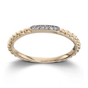 Mestergull Tøff ring i gult gull med diamanter MESTERGULL Ring