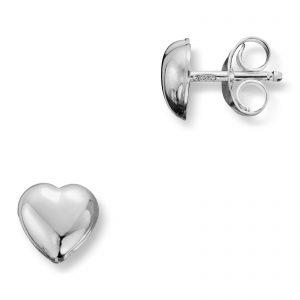 Mestergull Enkel hjerteørepynt i sølv MG BASIC Ørepynt