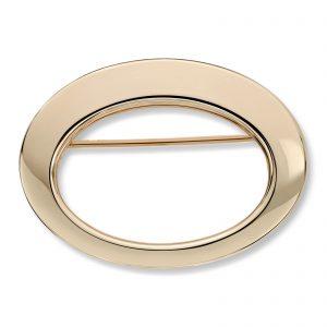 Mestergull Stilren oval nål i gult gull MESTERGULL Nål