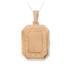 Mestergull Flott medaljong i gult gull MESTERGULL Anheng