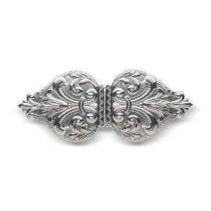 Mestergull Beltespenne til Vestfoldbunaden i oksidert sølv. NORSK BUNADSØLV Spenne