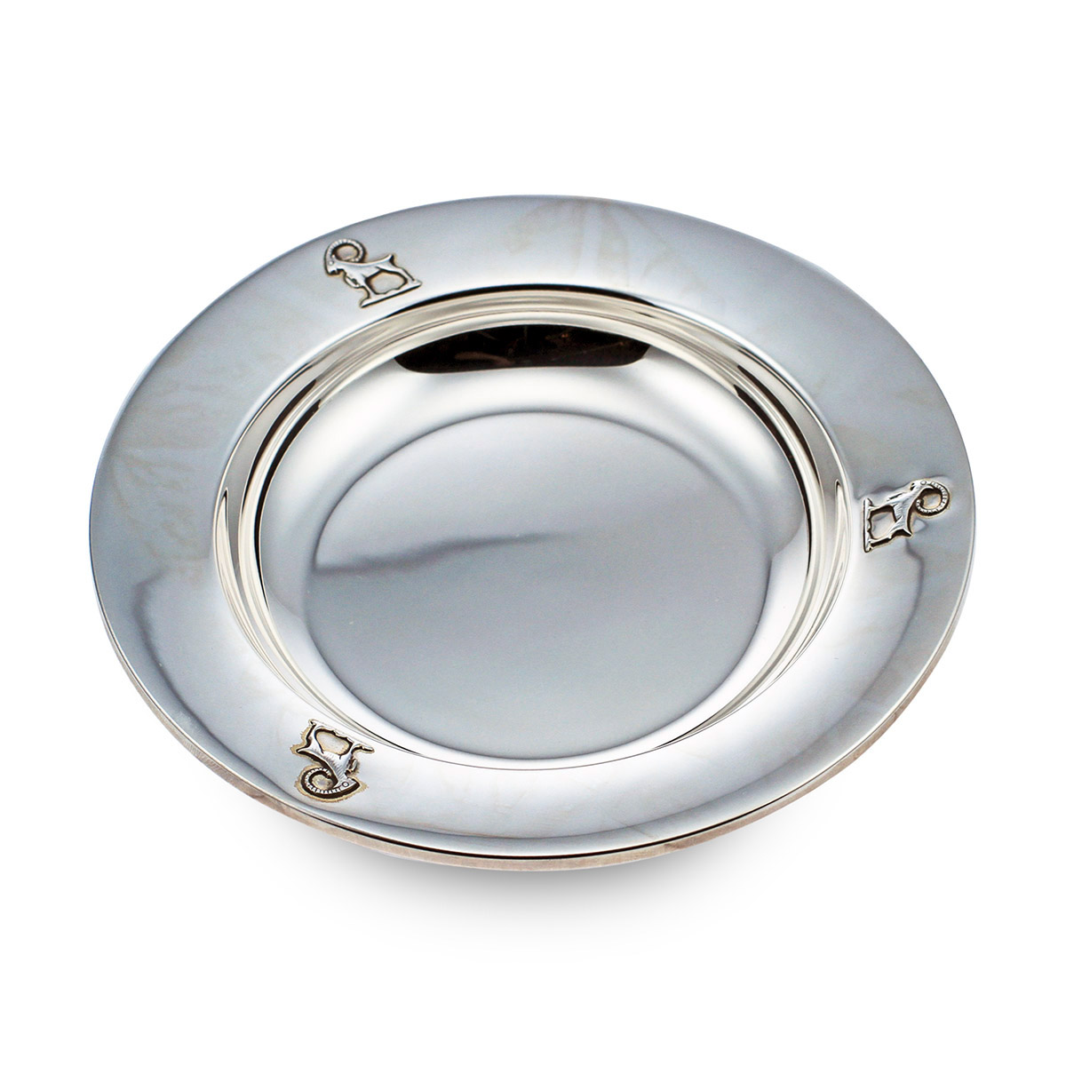 Mestergull Sølv grøtskål i mønsteret Bukkene Bruse BUKKENE BRUSE Skål / Tallerken