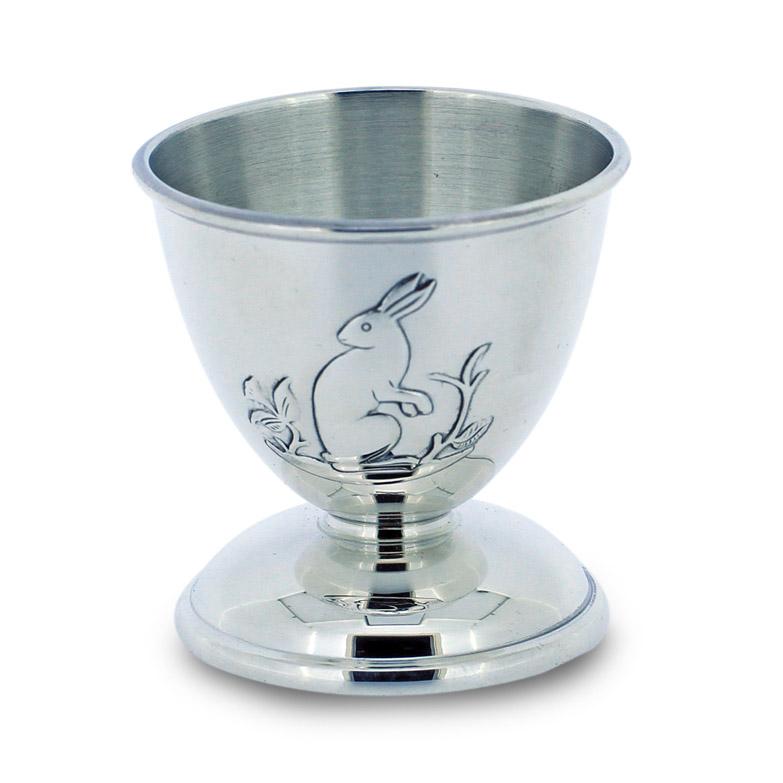 Mestergull Sølv eggbeger i mønsteret Bjørn, Rev & Hare B-R-H Eggbeger