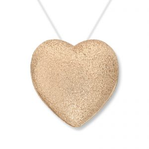 Mestergull Stort gult gull hjerte. Diameter 1,9 cm VAN BERGEN Golden Heart Lås