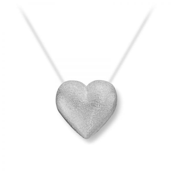 Mestergull Lite sølv hjerte lås. Diameter 1,2 cm. VAN BERGEN Silver Heart Lås