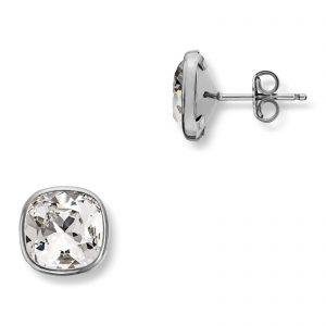 Mestergull Lekker ørepynt i rhodinert sølv med hvite swarovski krystaller GID Ørepynt