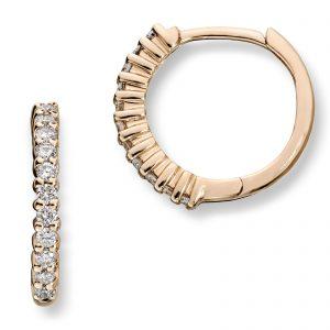 Mestergull Elegante øreringer i gult gull med diamanter MG DIAMONDS Ørepynt