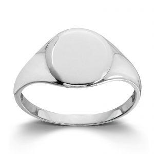 Mestergull Trendy signet ring i rhodinert sølv MESTERGULL Ring