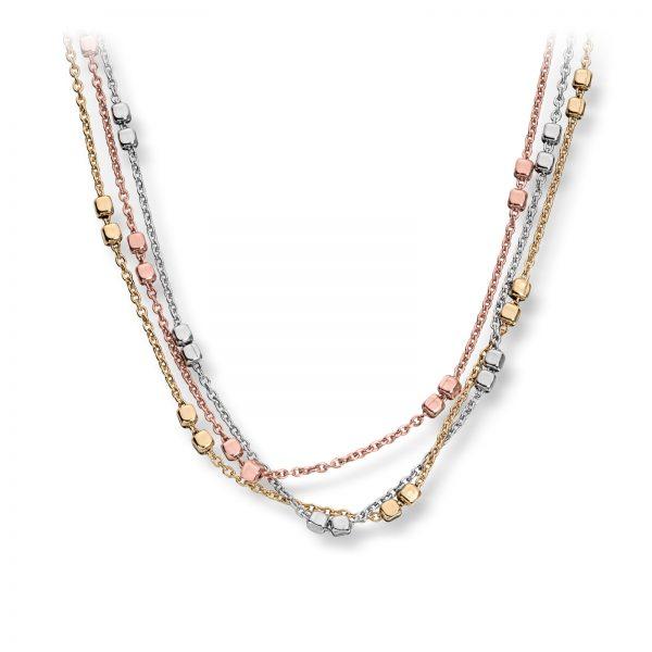 Mestergull Fint kjede i rhodinert, forgylt og rosèforgylt sølv MESTERGULL Kjede