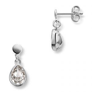 Mestergull Søt ørepynt i sølv med hvite swarovski krystaller MG BASIC Ørepynt