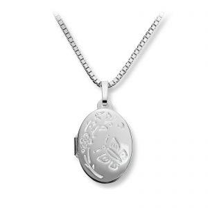 Mestergull Flott oval medaljong i sølv med siselering MESTERGULL Anheng