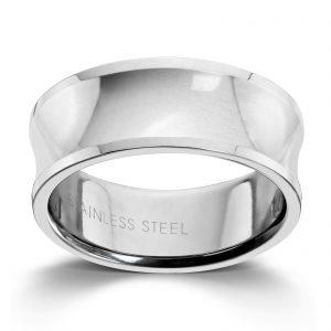 Mestergull Tøff ring i stål til herre MESTERGULL Ring