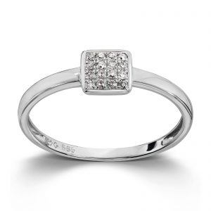 Mestergull WG Ring 16 Dia 0,05 ct. JP1 MG DIAMONDS Ring