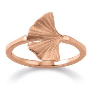Mestergull Trendy ring i rosèforgylt sølv med blad VIVENTY Ring