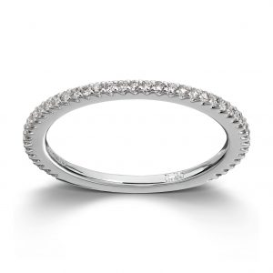Mestergull Enkel delikat ring i hvitt gull med diamanter MG DIAMONDS Ring