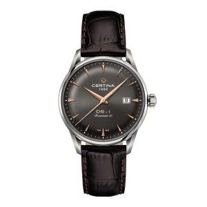 Mestergull Denne modellen er inspirert av de første klokkene med DS-konseptet som ble produsert av Certina i 1960. De har kombinert særegen design og sofistikerte detaljer med et innovativt automatisk urverk med en gangreserve på opptil 80 timer. CERTINA DS-1 Ur