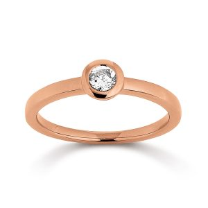 Mestergull Klassisk ring i rosèforgylt sølv med cubic zirkonia VIVENTY Ring
