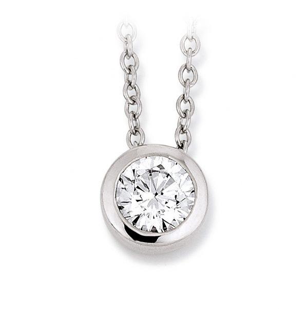Mestergull Klassisk kjede i rhodinert sølv med cubic zirkonia VIVENTY Kjede