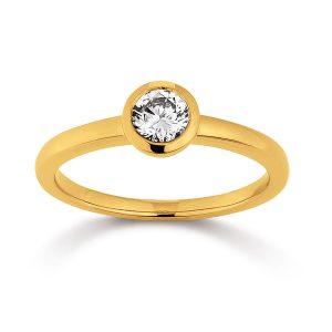 Mestergull Klassisk ring i forgylt sølv med cubic zirkonia VIVENTY Ring